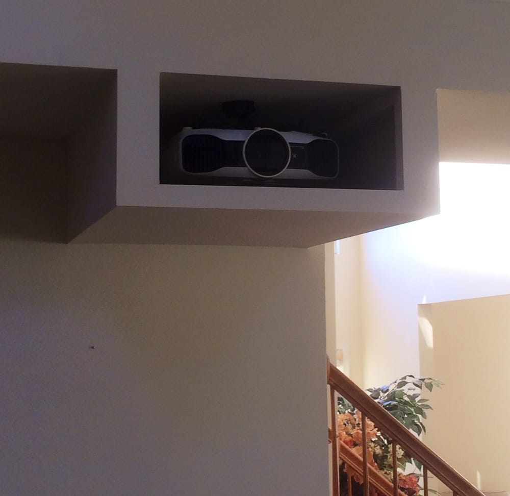 Custom Hush Box We Built To House The Projector We Mounted