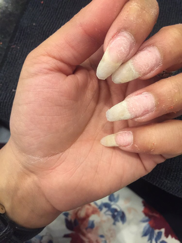 My real nails so healthy and happy before Danny put his magic hands ...