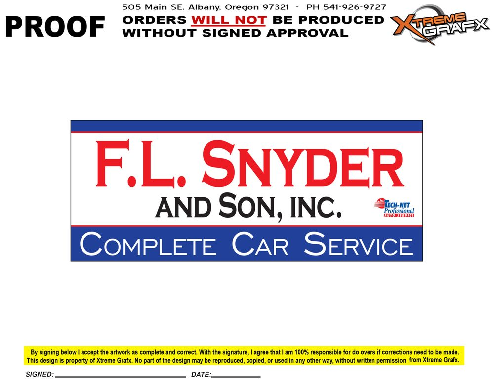 F L Snyder & Son: 404 2nd Ave SE, Albany, OR