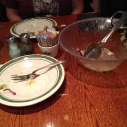photo of olive garden italian restaurant rockford il united states empty plates - Olive Garden Rockford Il