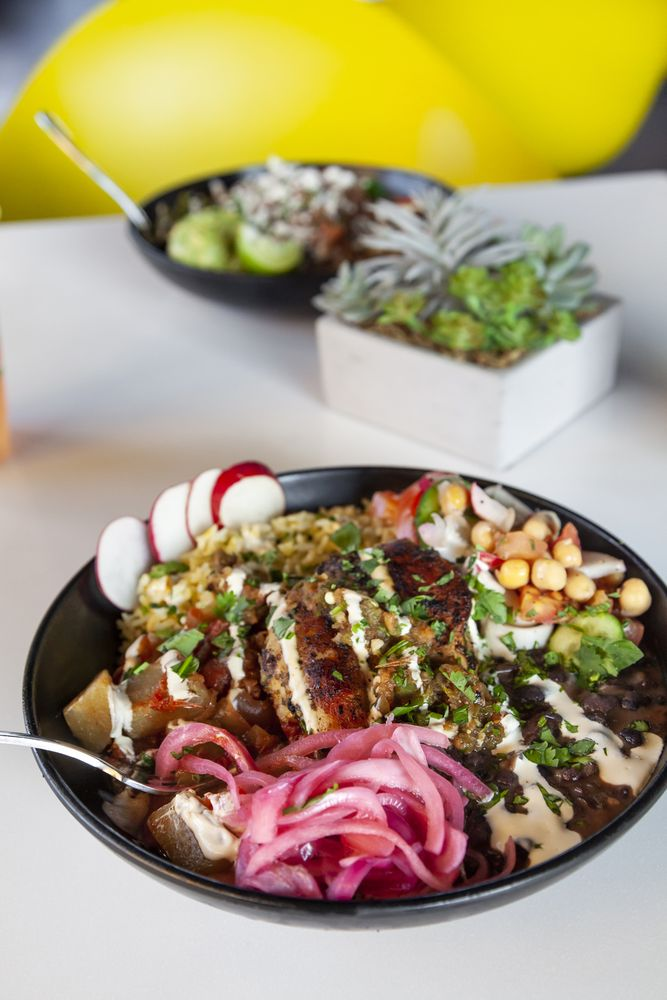 Food from Plancha Latin Kitchen