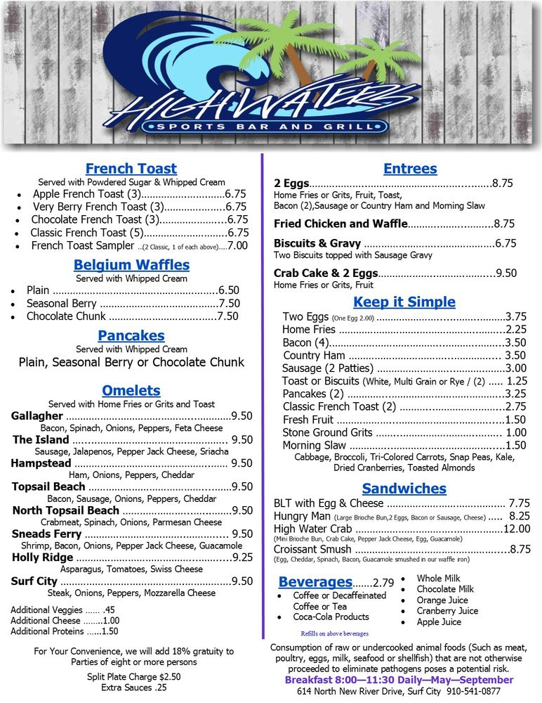 Gallagher's Sports Bar & Grill: 614 N New River Dr, Surf City, NC