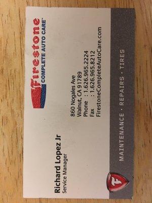 Firestone Complete Auto Care 860 Nogales Ave Walnut Ca Tire Dealers