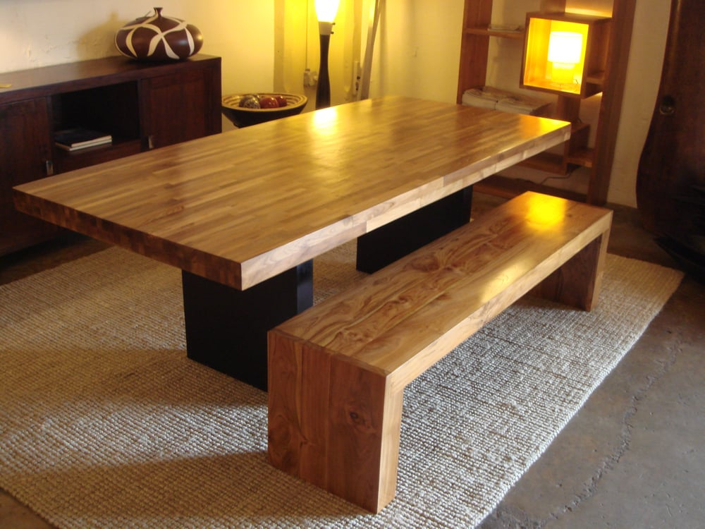 Recycled Teak Wood Dining Table Amp Bench Yelp