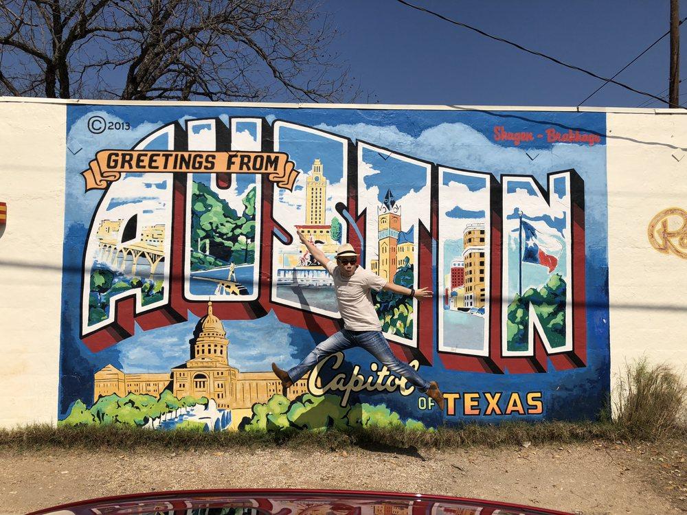 Greetings From Austin Postcard Mural