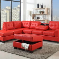 High Quality Photo Of Payless Mattress   Newark, NJ, United States. Red Sectional With  Storage
