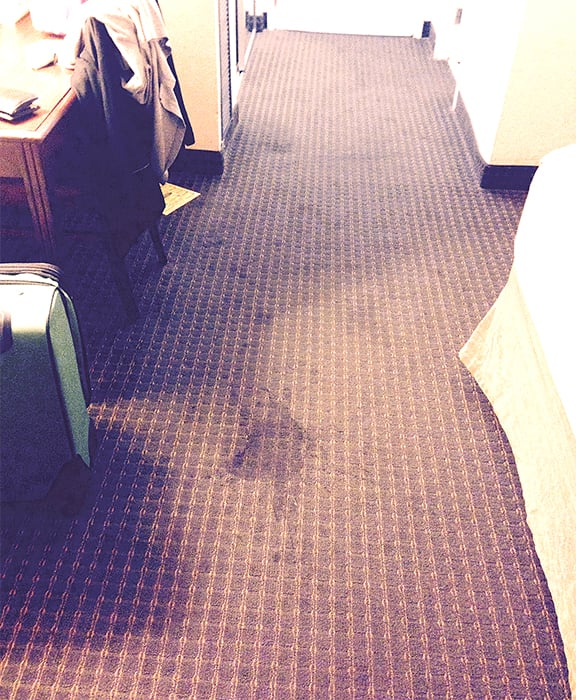 Huge stain in room 511 there were other less huge stains on