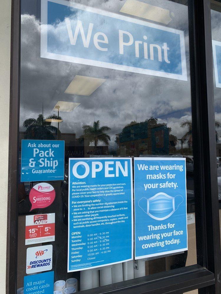 The UPS Store: 94-1221 Ka Uka Blvd, Waipahu, HI