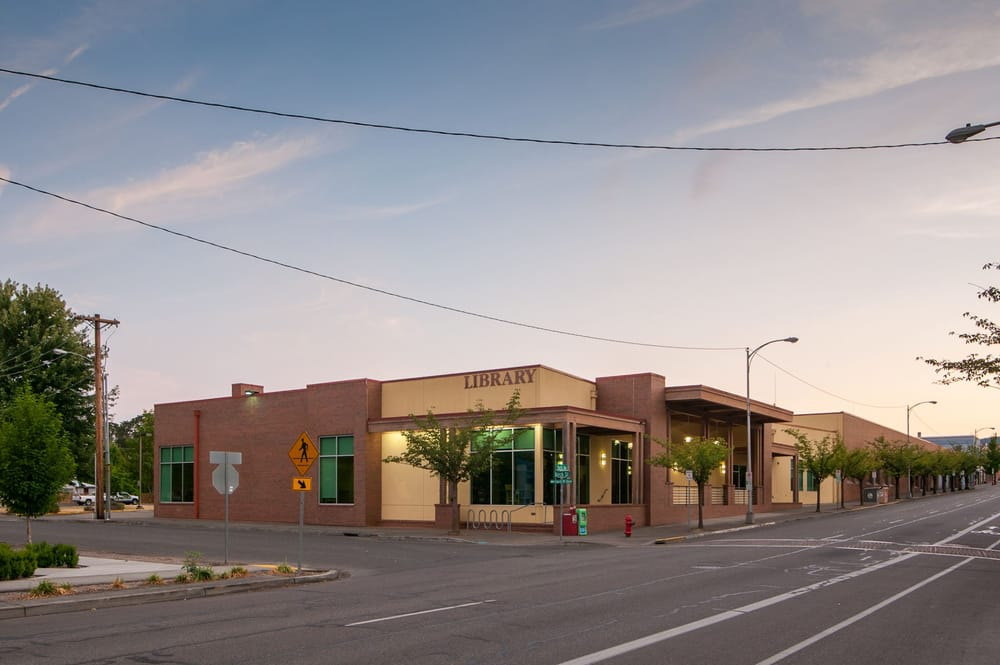 The library is located on the corner of pacific avenue and for Forest grove plumbing