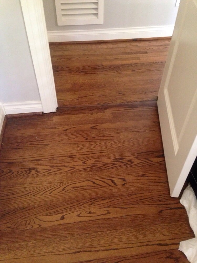 No one can even tell where the new flooring begins and the for Hardwood floors houston