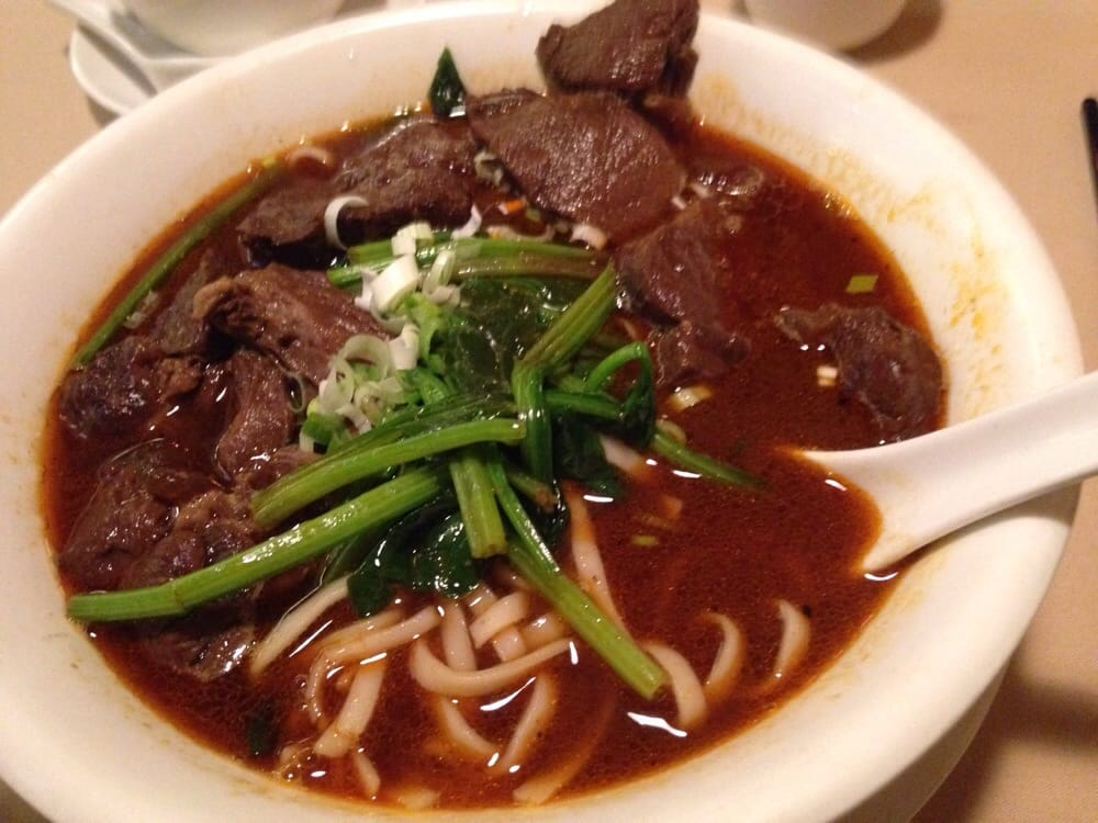 Szechwan beef noodle soup is amazing spicy but flavorful for Aiyara thai cuisine