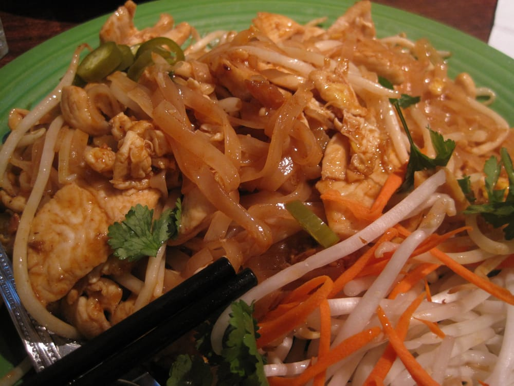 Pad Thai - Stir Fried Rice Stick Noodles with Shrimp, Dried Shrimp ...