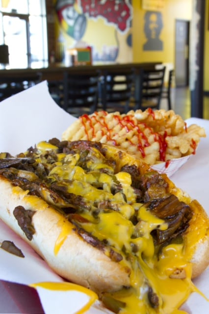Food from Phat Philly's Cheesesteaks