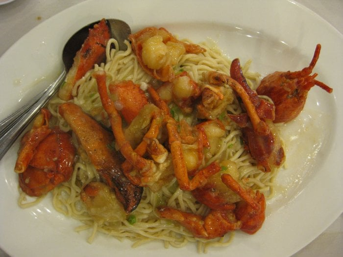 Lobster Yee Mein (Lobster with soft Noodles) (Yee Mein normally costs more than regular ndddles ...