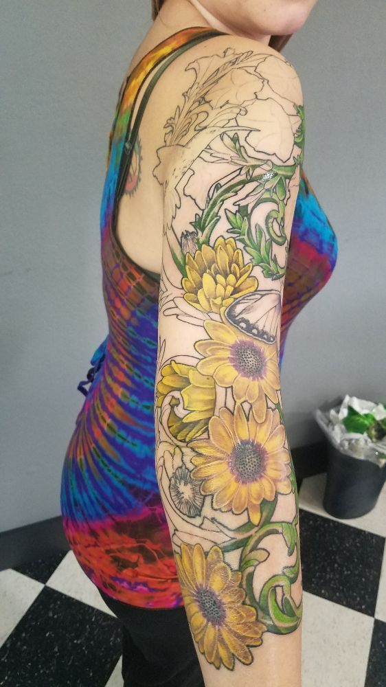 b2c6acd47 Outside of leg sleeve and cover up of old large tribal design. - Yelp