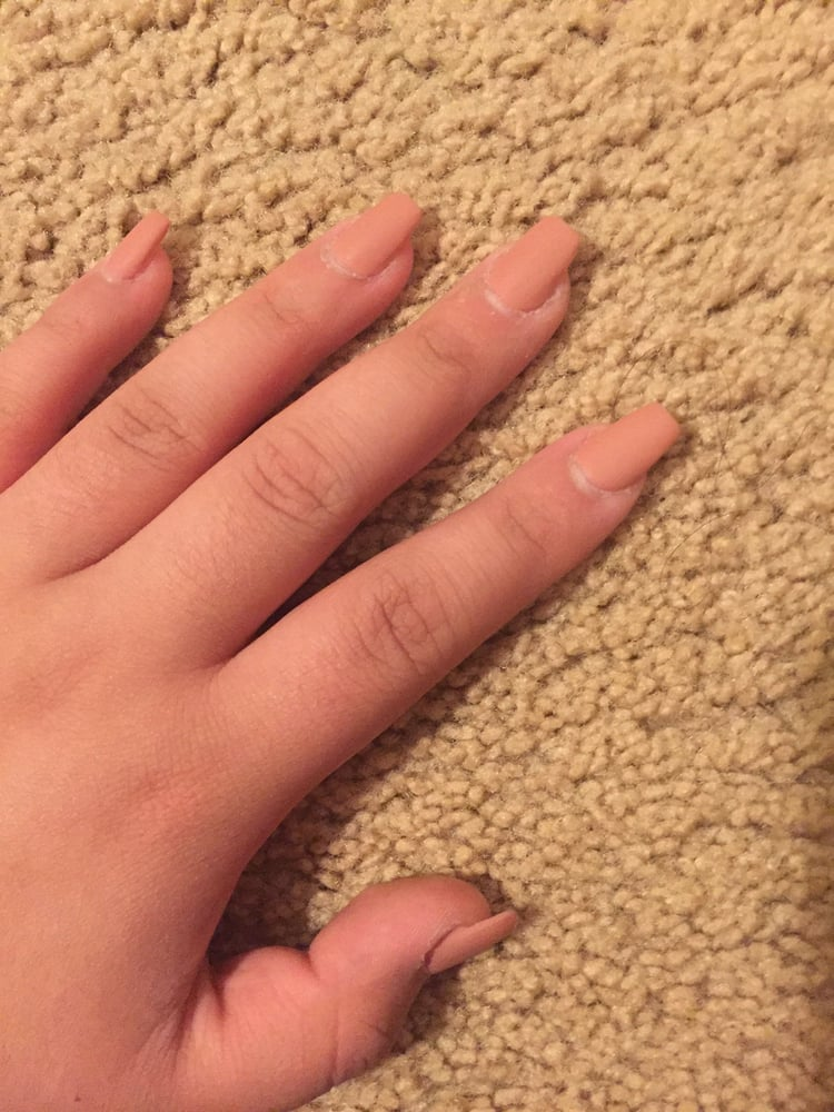 Nude Matte Acrylic Nails $28 4/5 \