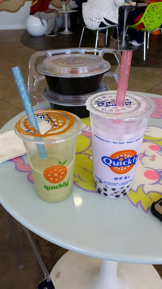 Quickly Taro Bubble Tea Matcha milk slush and ...