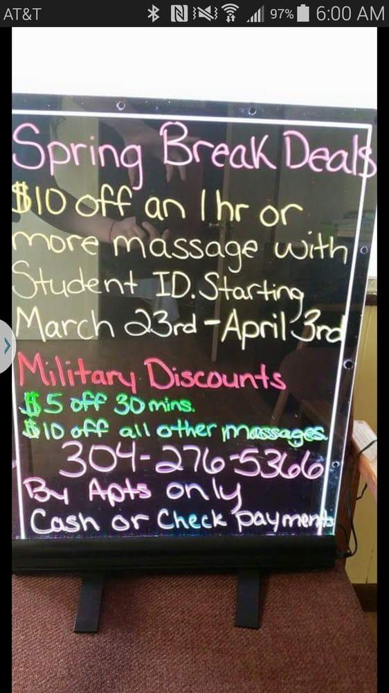 Massage Zone: 3473 University Ave, Star City, WV