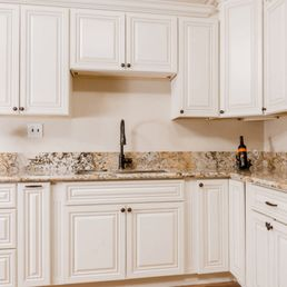 photo of american cabinet depot ontario ca united states antique_white kitchen cabinets - Kitchen Cabinet Depot