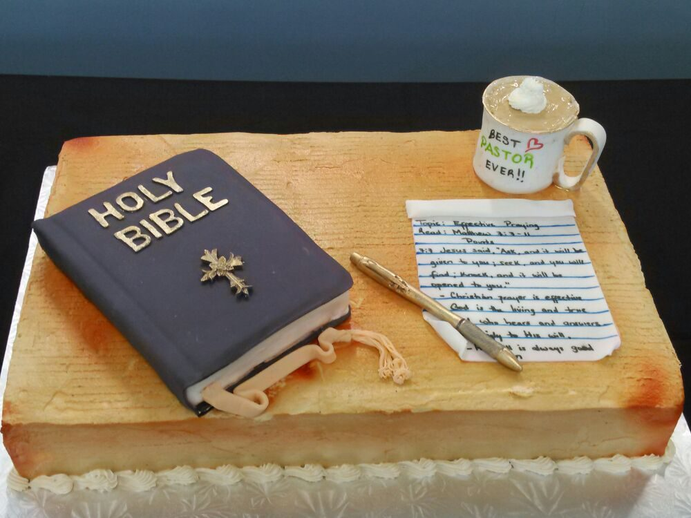 Pastor Appreciation Cake Yellow Cake With Buttercream Frosting And