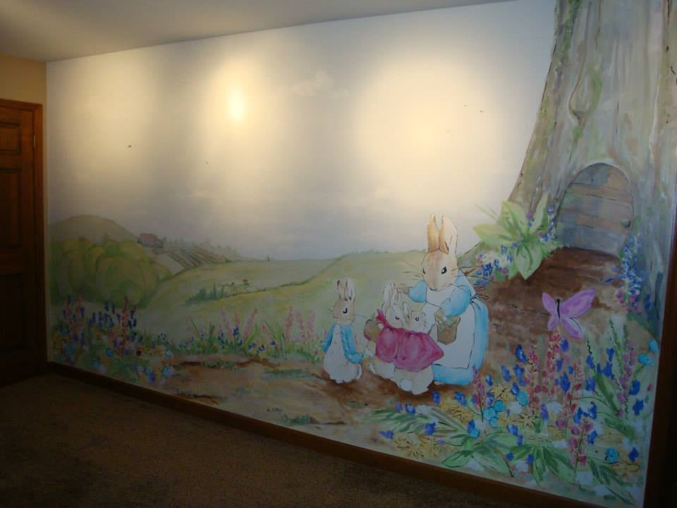 Perfect ... Photo Of Artist Painters Llc Chicago Il United States Peter Rabbit  Themed · Mural ... Part 8