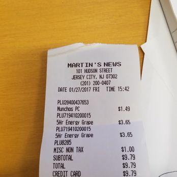 Martin's News - Newspapers & Magazines - 101 Hudson St, Jersey City