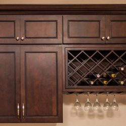 Beau Photo Of American Cabinet Depot   Ontario, CA, United States.  Chocolate_Mahogany Kitchen Cabinets