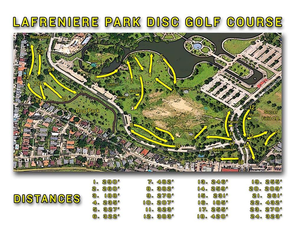 Lafreniere Park Map Lafreniere Park disc golf course map.   Yelp Lafreniere Park Map