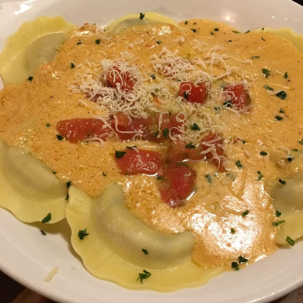 Mushroom Ravoli - 100% recommend! That sundried tomato sauce... - Yelp