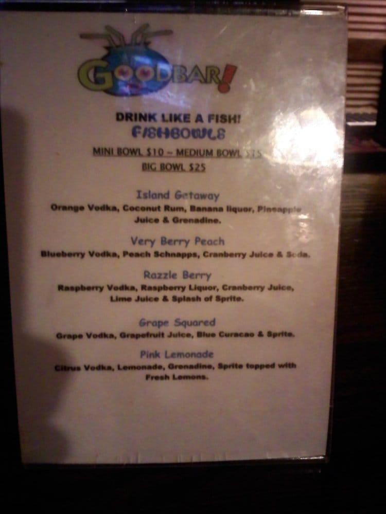 Fish bowl menu yelp for Two fish menu