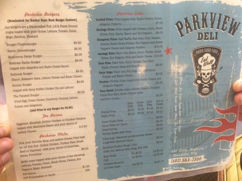 Parkview Grocery & Deli: 680 State Highway 7, Unadilla, NY