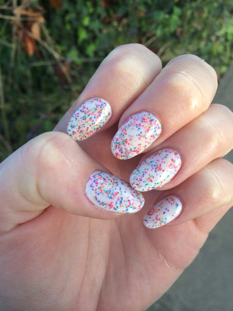 Cute new color looks like sprinkles! Crystal powder and natural ...