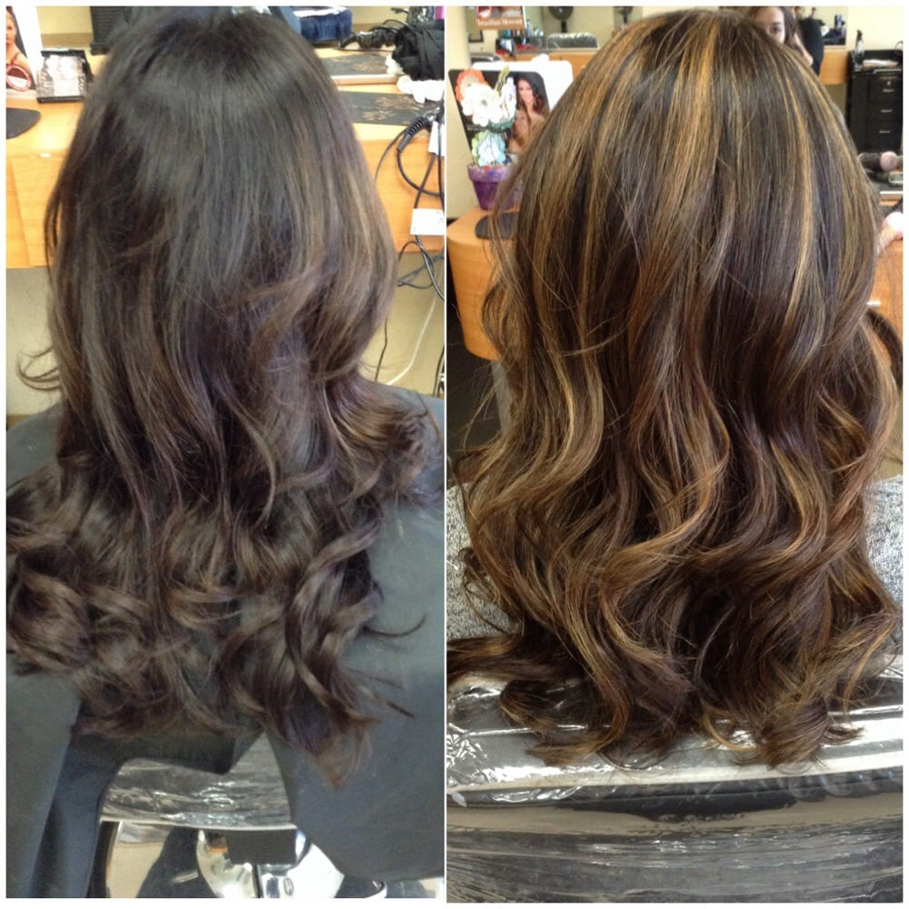 Changed Her Color Base Adding Full Highlights Hair By Gris Yelp