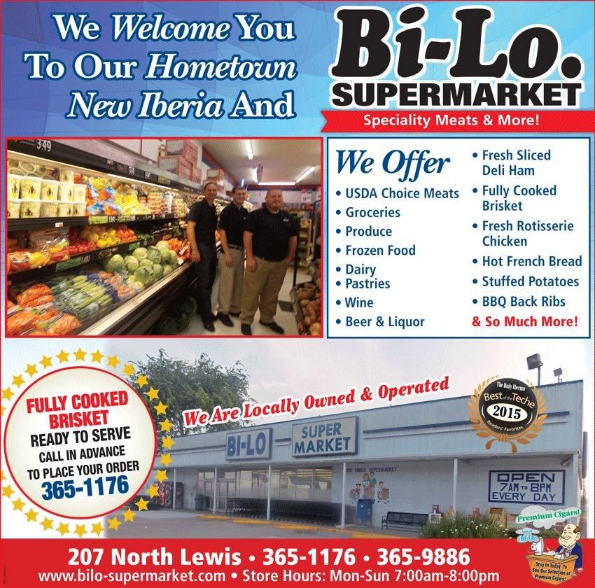Bi-Lo Supermarket: 207 N Lewis St, New Iberia, LA
