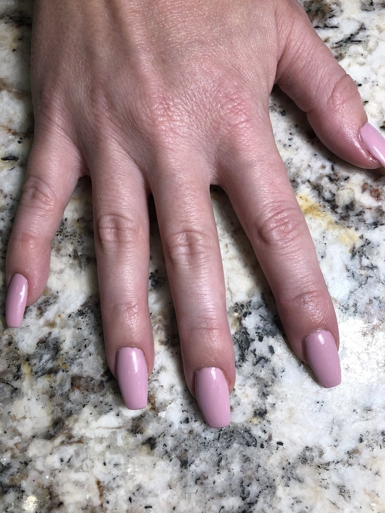 Coffin Shaped Nails With Lavender Dream Nail Polish Yelp