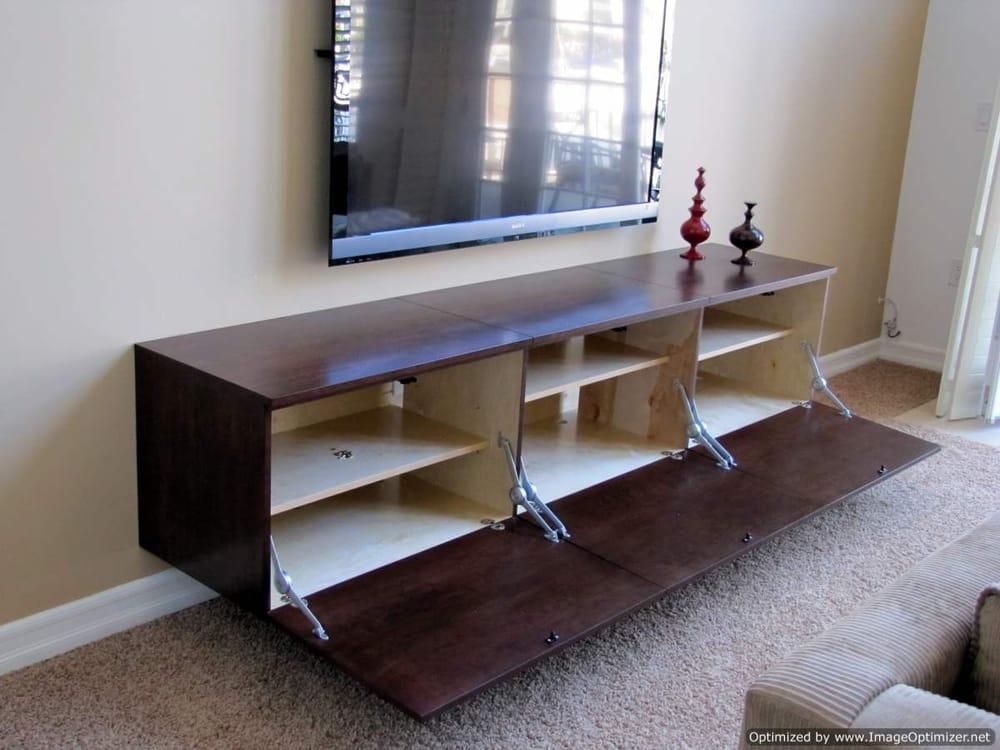 Photo Of Stonebelt Cabinets   Westminster, CA, United States. Custom  Floating Contemporary TV