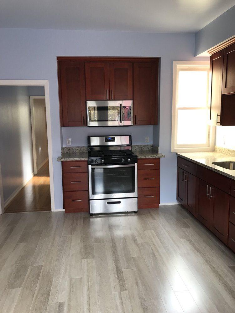 Shiny, beautiful new kitchen floor - Yelp