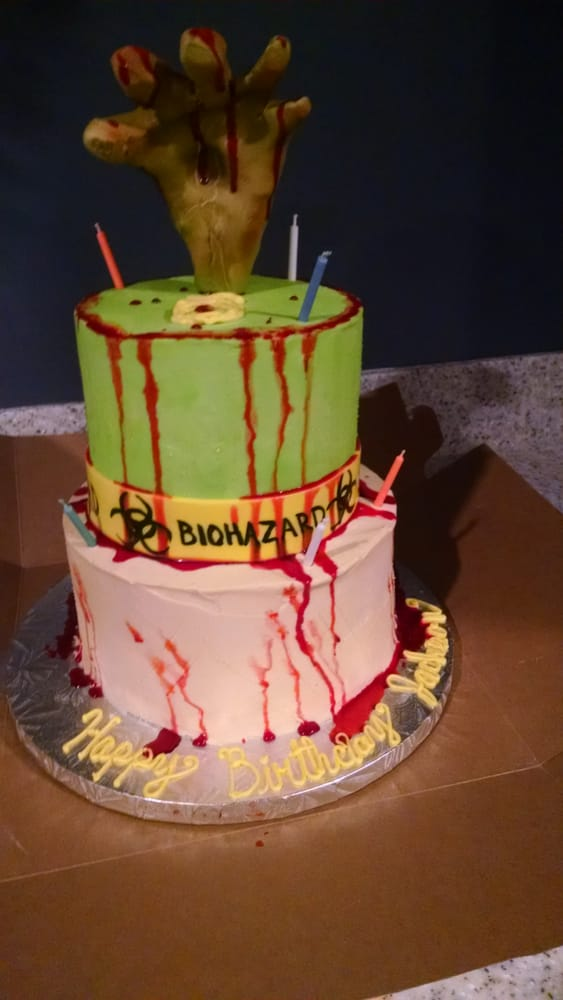 My Sons Zombie Birthday Cake Yelp
