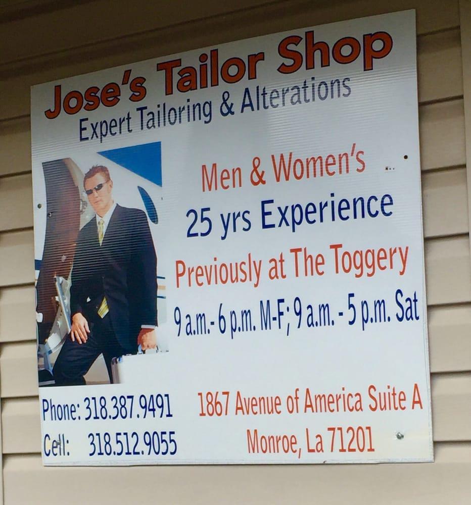 Jose's Tailor Shop: 2105 Justice St, Monroe, LA