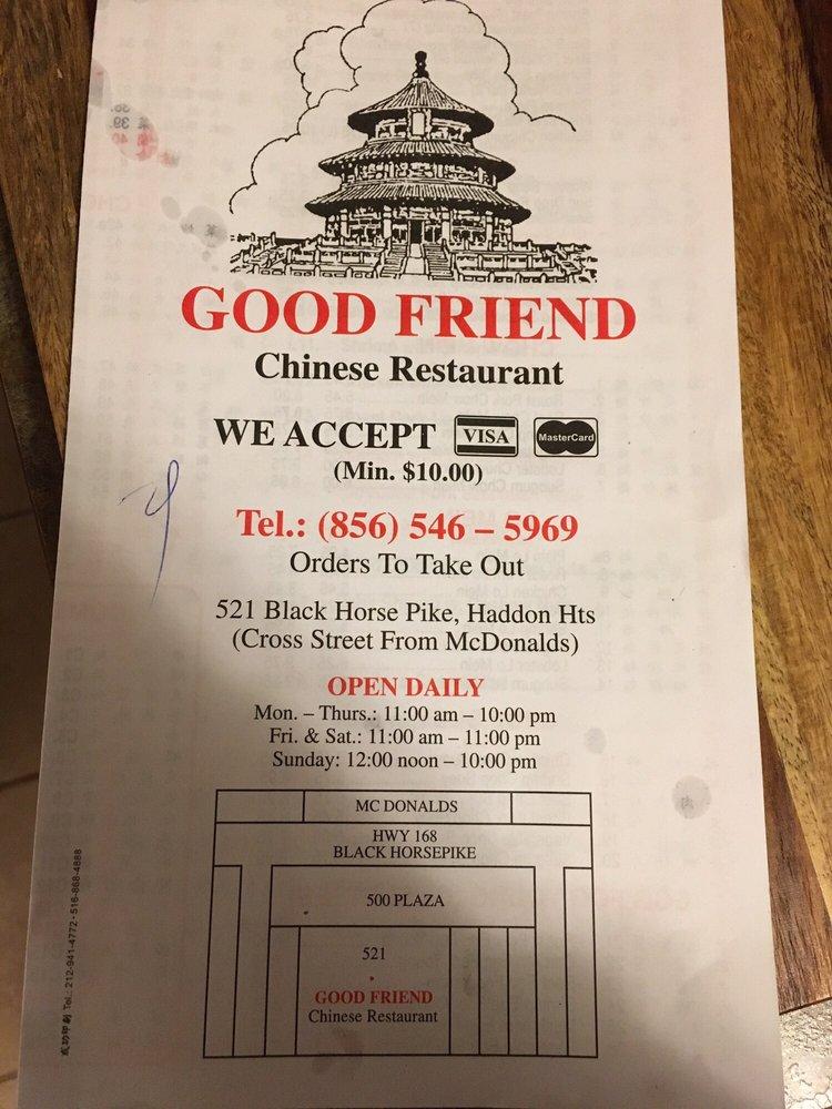 Good Friend Chinese Restaurant Haddon Heights Nj