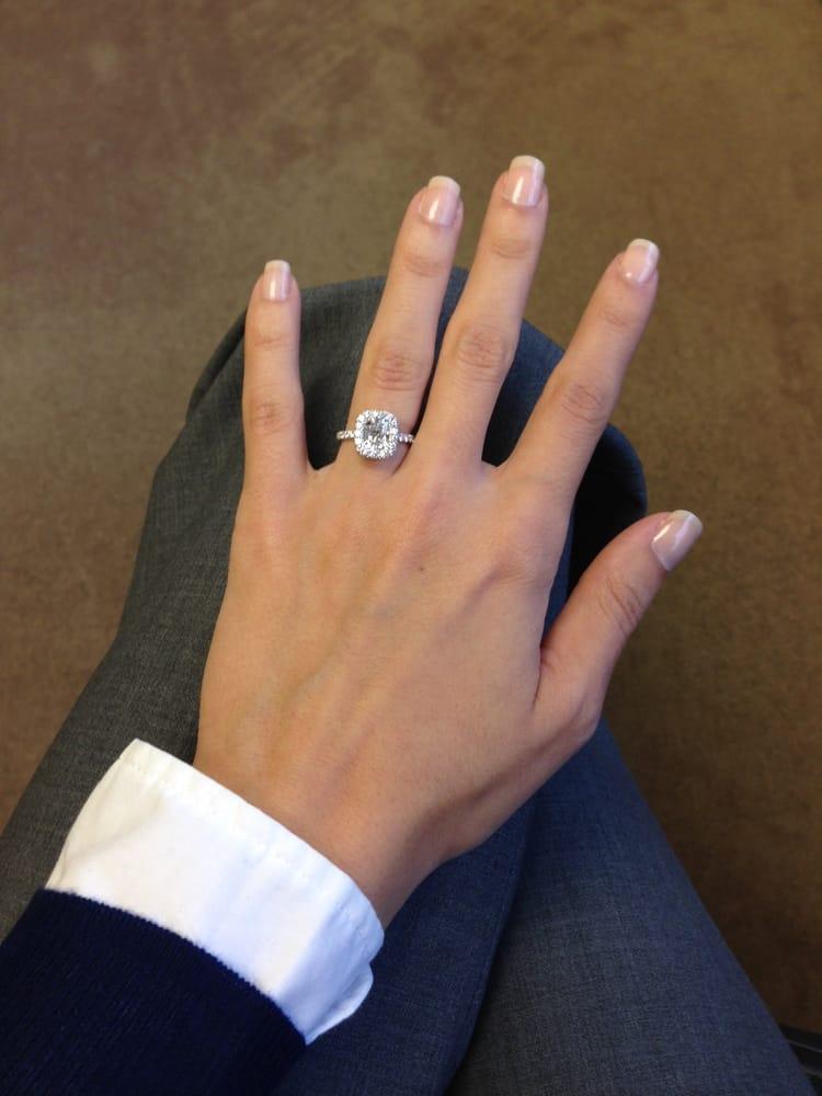 Jean Dousset Diamonds My Quot Eva Quot Cushion Cut Engagement