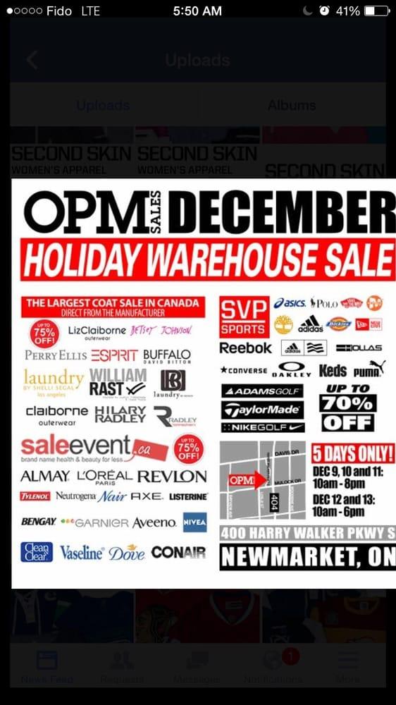 OPM Premium Warehouse Sales