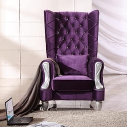 Photo Of Texas Wholesale Furniture   Houston, TX, United States. Purple  Reign Chair