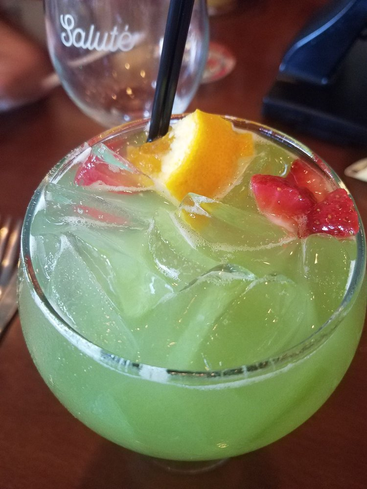 Green apple sangria from the summer drink menu - Yelp