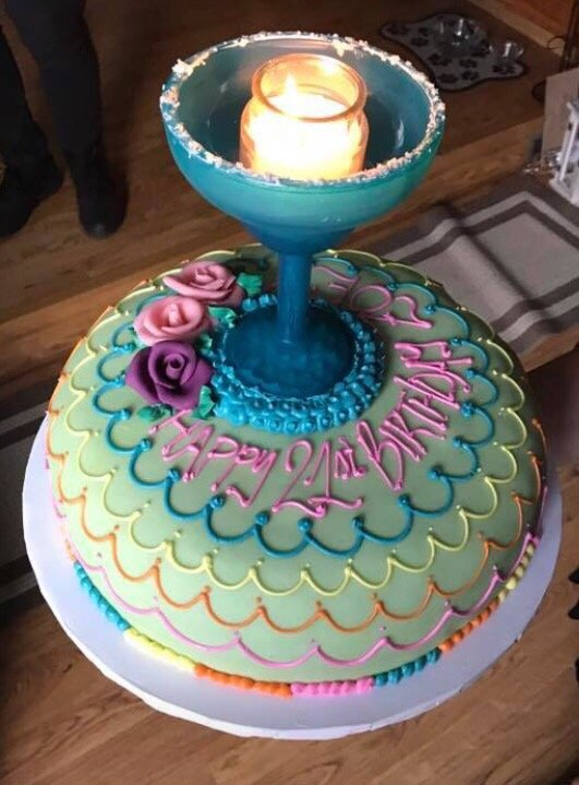 Gorgeous 21st Birthday Margarita Princess Cake Yelp