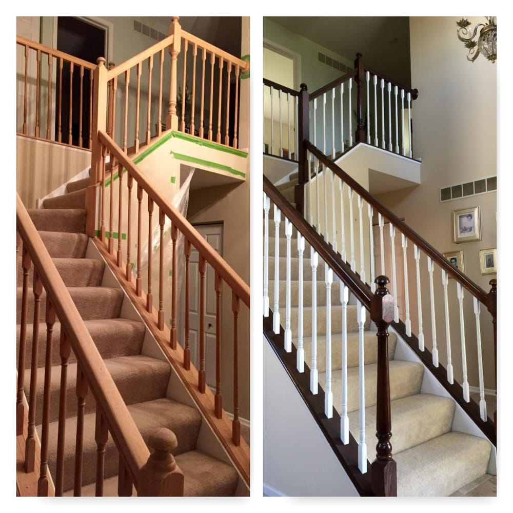 Before And After Of A Railing Project. We Sanded/stripped