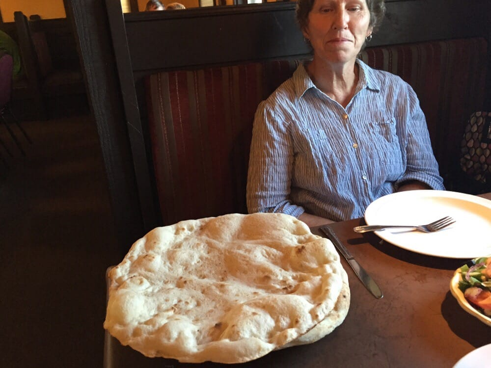 Look at the size of that fresh made bread yelp for Ali baba mediterranean cuisine