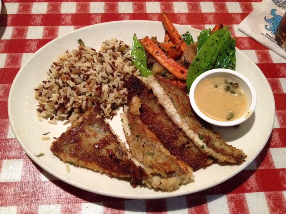 Parmesan crusted sand dabs w summer grains northwest for King s fish house mission valley