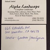 san leandro business license Alpha Landscape - Contractors - 545 Estudillo Ave, San Leandro, CA ...