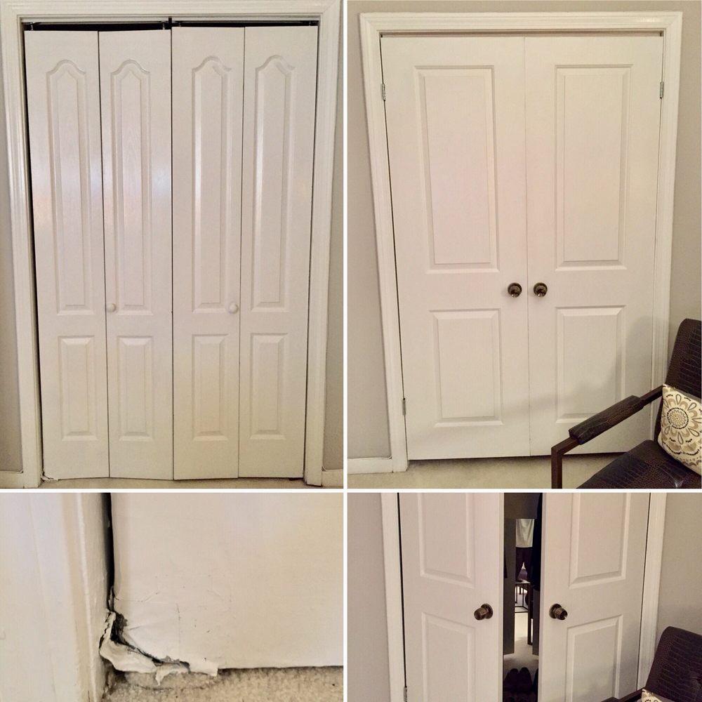 Replacement Of Broken Bifold Closet Doors Left Photos Are Old